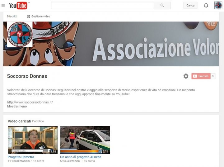Canale Youtube Soccorso Donnas